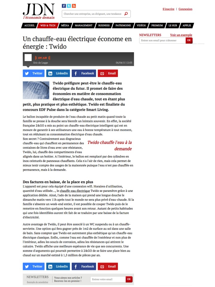 Article Journal du Net (06/04/15)