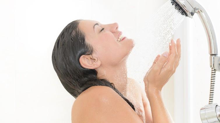 débit d'une douche