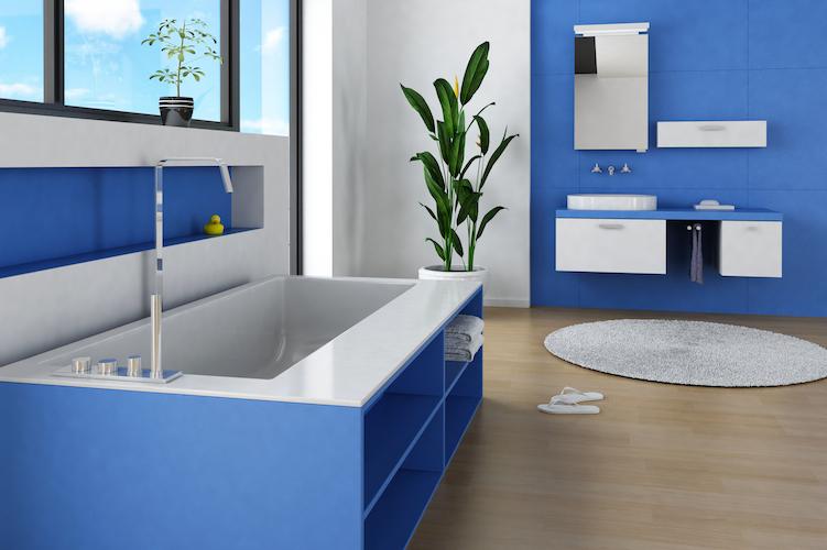 Agrandir sa salle de bain grâce aux couleurs | TWIDO