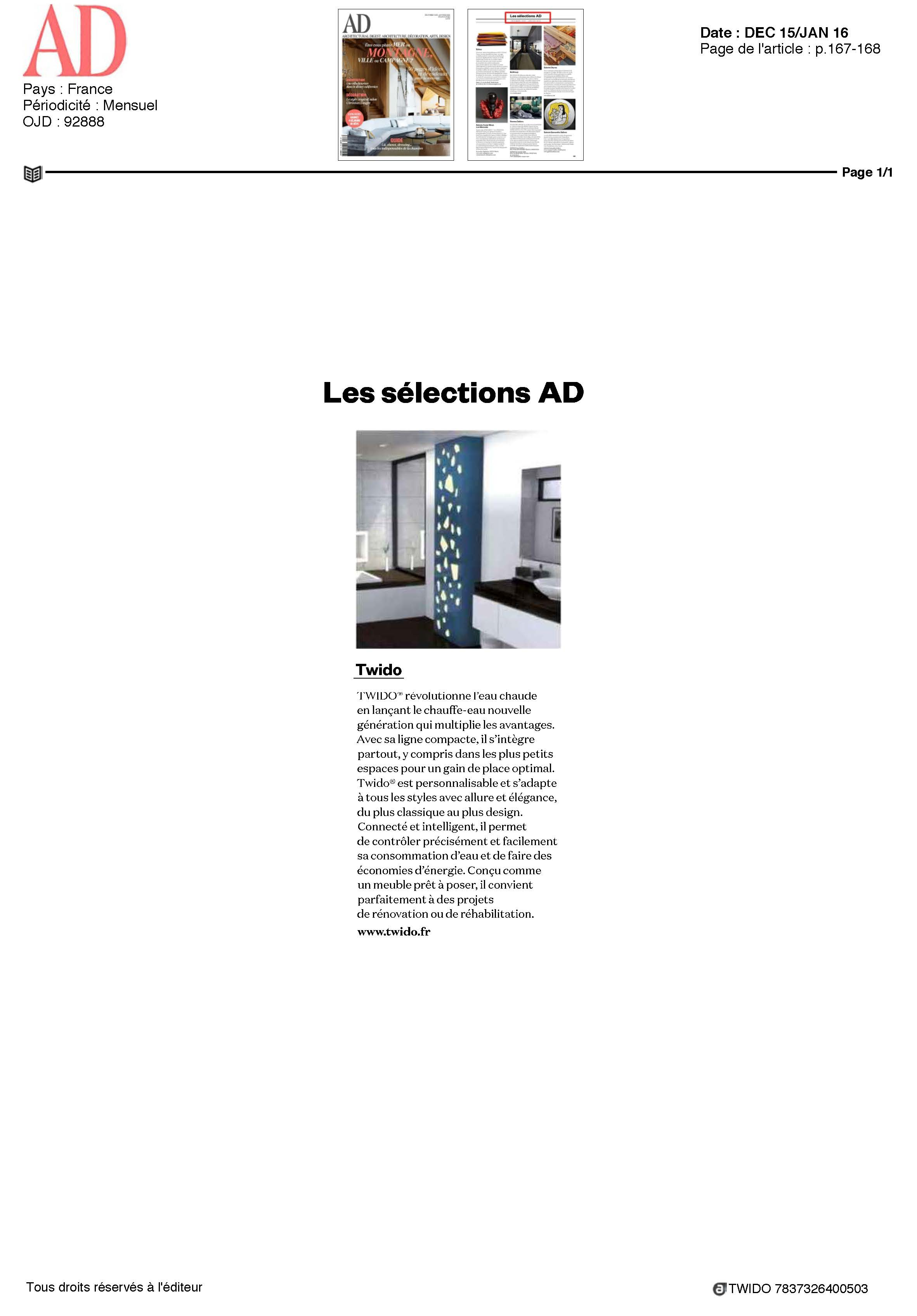 AD selectionne Twido