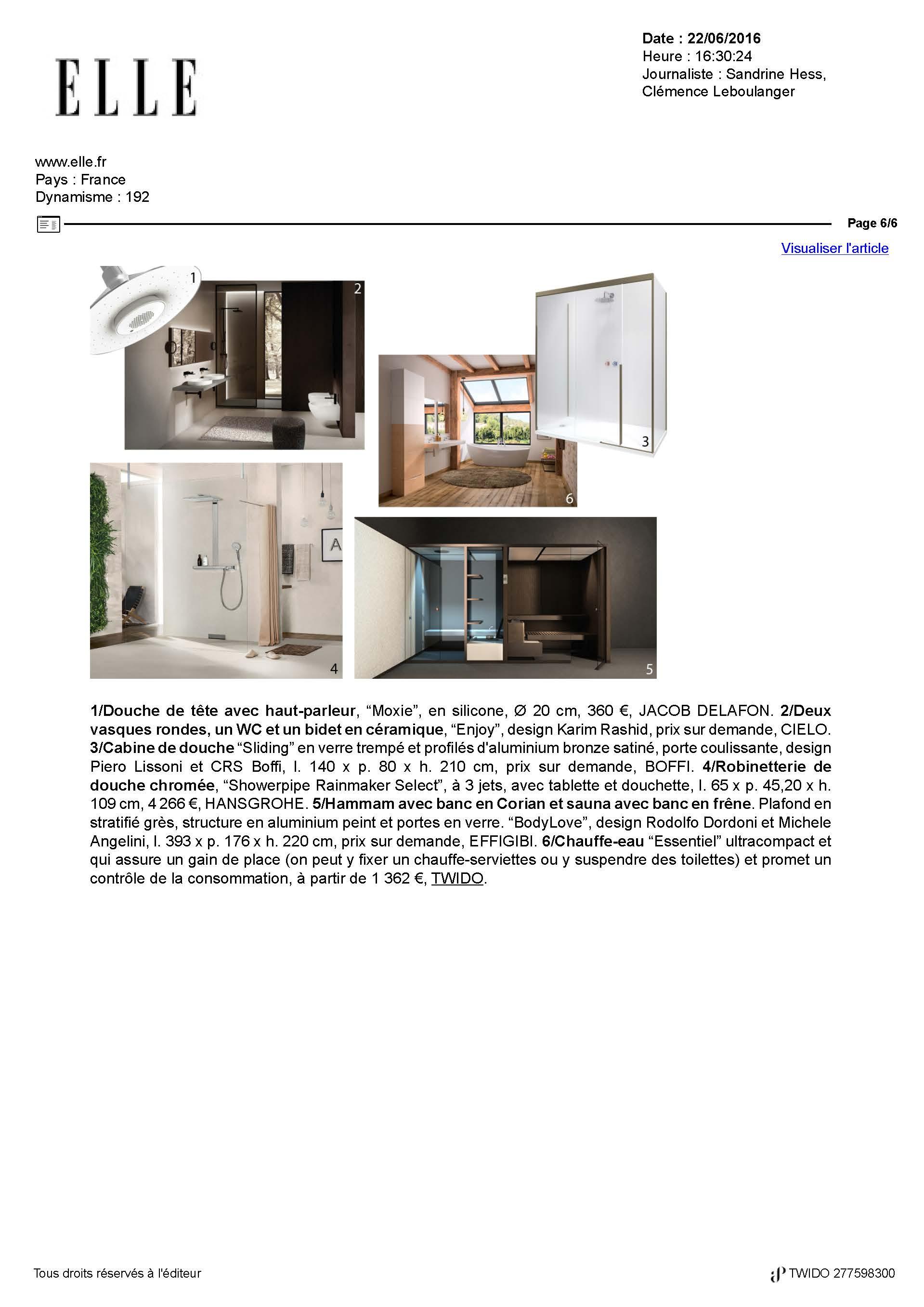 Collection Essentiel Twido sur ELLE magasine