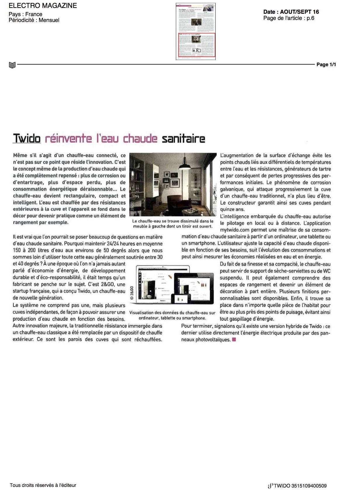 article electro magazine