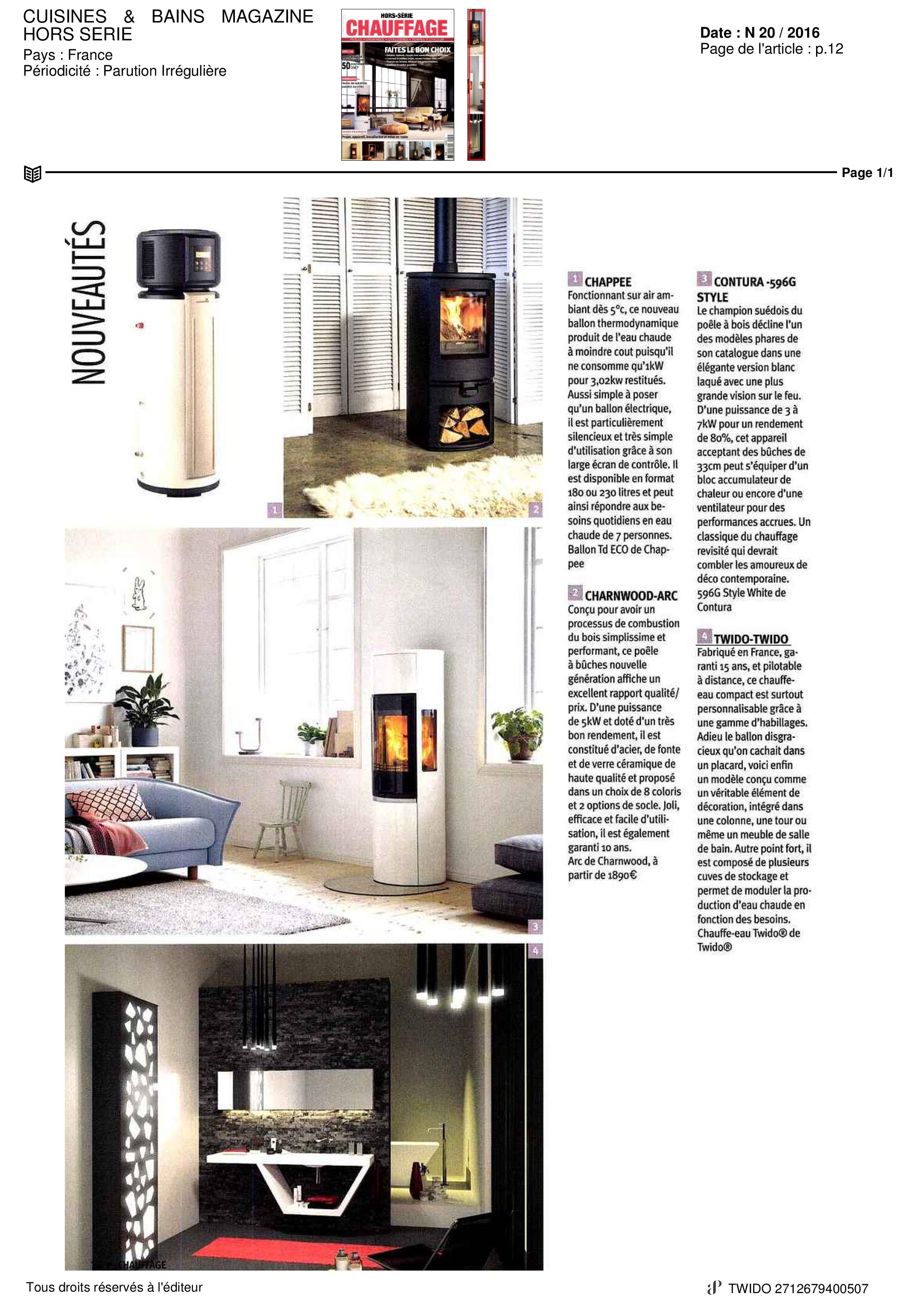 on parle de nous dans cuisines bains magazine twido. Black Bedroom Furniture Sets. Home Design Ideas