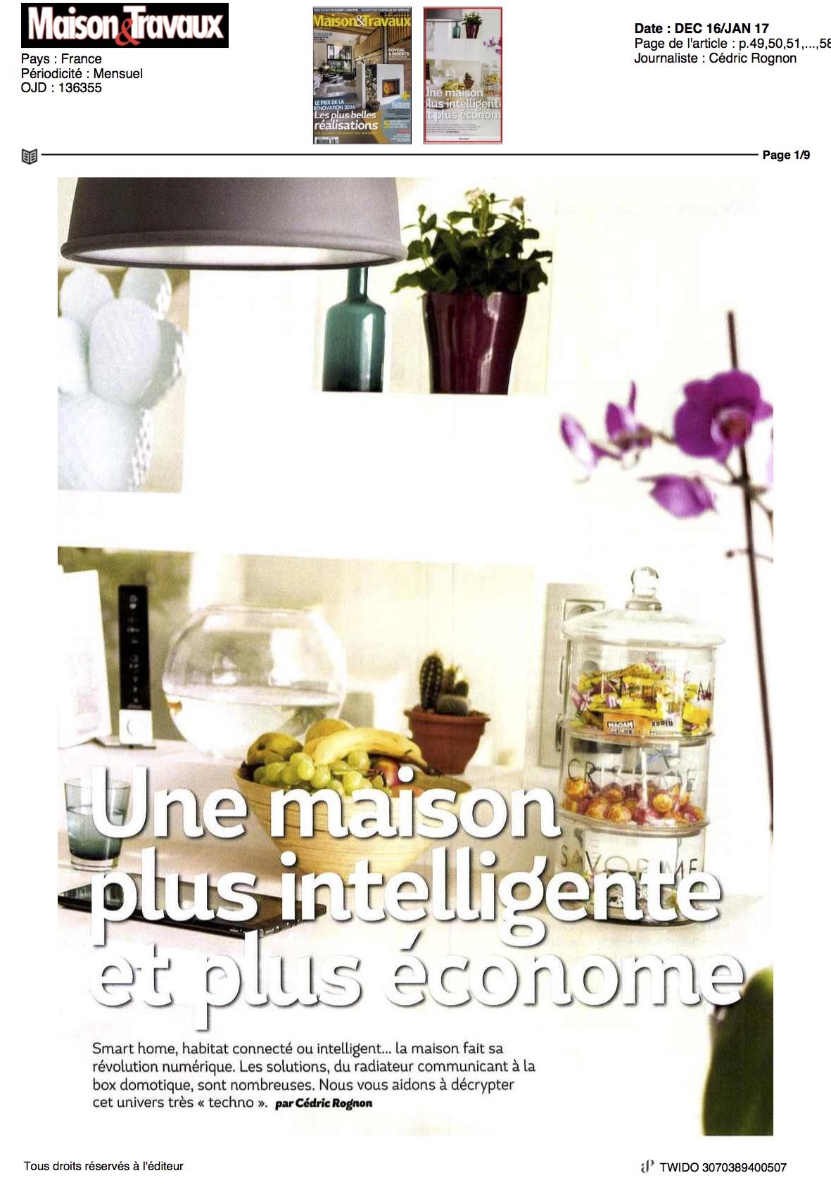 Maison et travaux parle de twido for Magazine maison et travaux